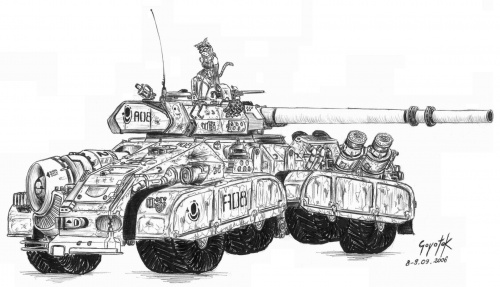 #rysunek #furry #czołg #wóz #mecha #pojazd