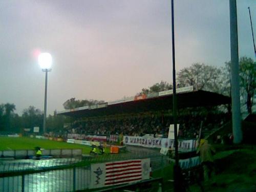 """Stadion Polonii - trybuna """"Kamienna"""" (zadaszona) #Warszawa"""
