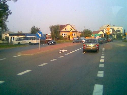 Kurów - skrzyżowanie najważniejszych ulic #Kurów
