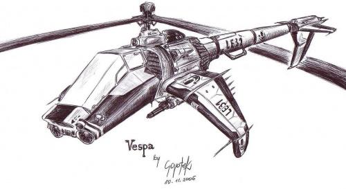 #helikopter #śmigłowiec #mecha #pojazd #rysunek