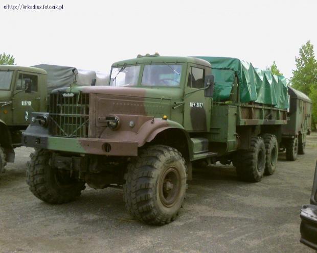 KRAZ 255 B na wyposażeniu Wojska Polskiego --------- fot- JAN WOTA
